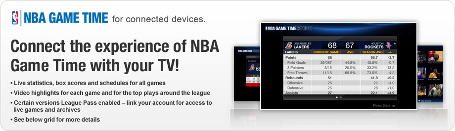 NBA Game Time For Connected Devices | NBA com