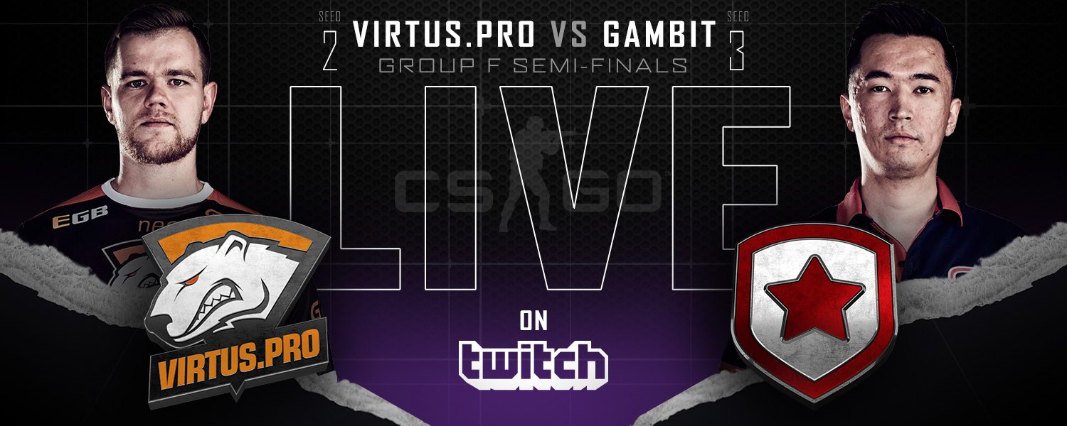 Watch Virtus Pro versus Gambit, streaming live on Twitch.