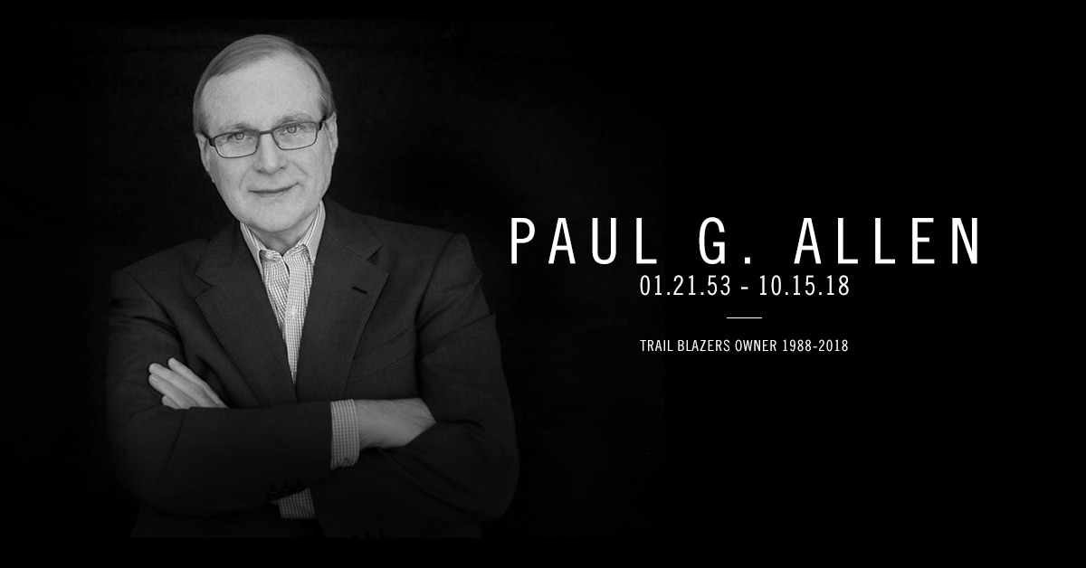 Portland Trail Blazers Owner Paul G. Allen Passes Away at Age 65