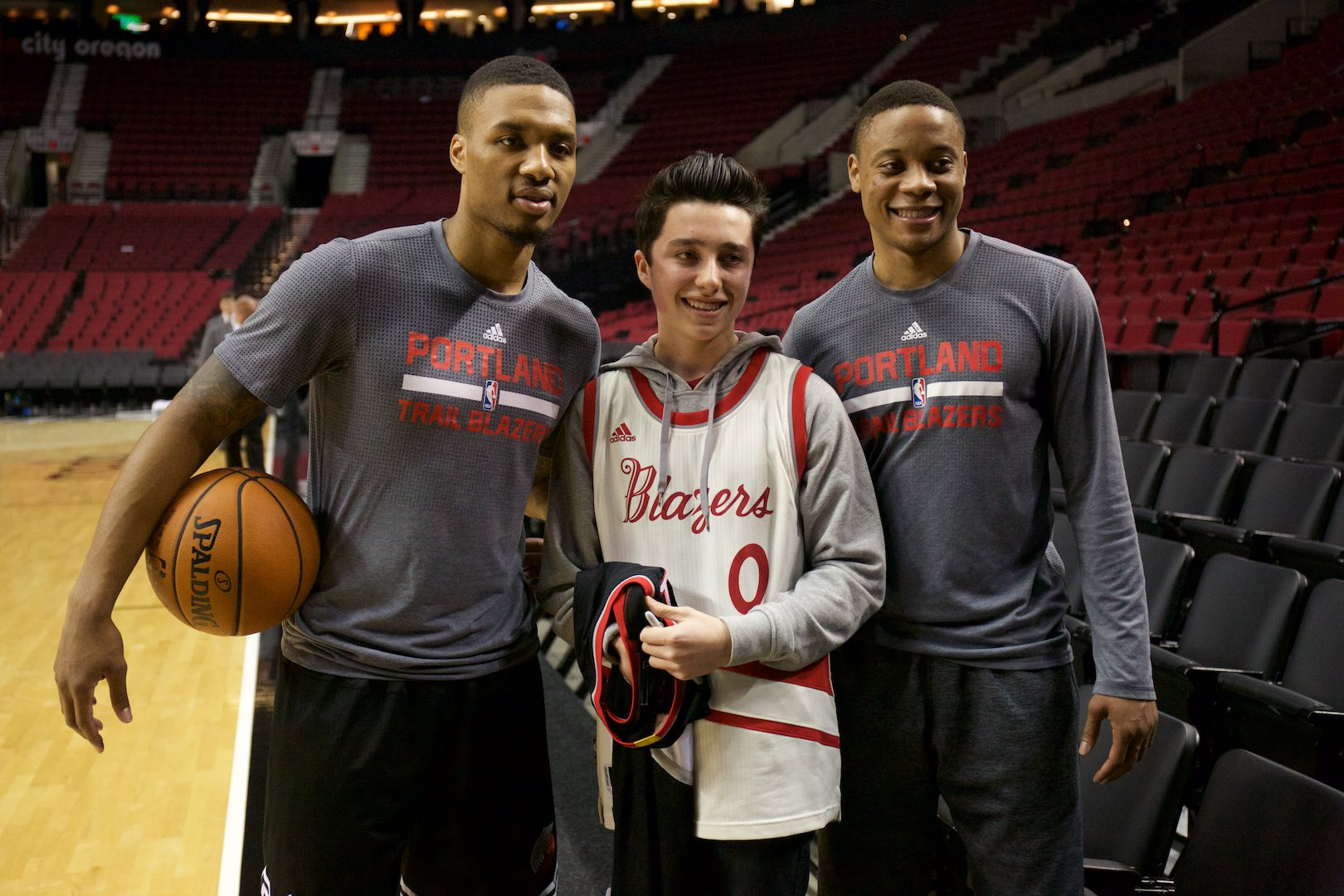 2550d5e18da Damian Lillard helped with a surprise birthday as the team warmed up for  their game vs