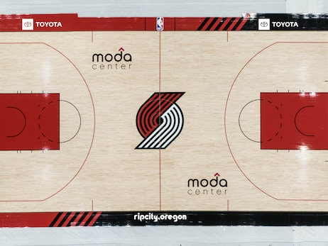 Trail Blazers Reveal 2020-21 Season Court Design at Smallest Park in the World
