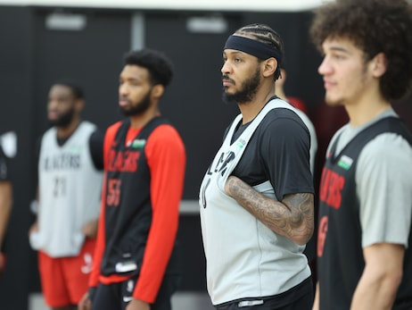 PHOTOS » Trail Blazers practice before facing Knicks
