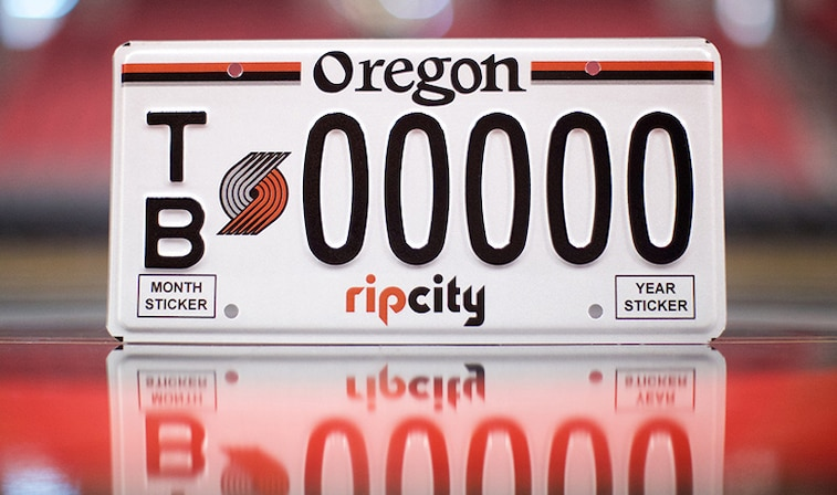 Trail Blazers License Plates Available Now   Portland Trail