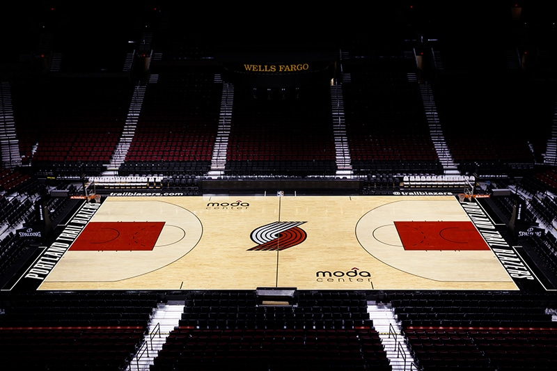 Trail Blazers Reveal New Court For 2014 15 Season