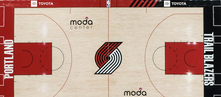 After A Season Looking Back Portland Moves Forward With New 2020 21 Court Portland Trail Blazers