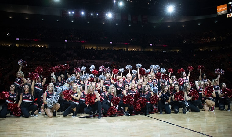 Eighty BlazerDancers Return to Rip City for Reunion Performance