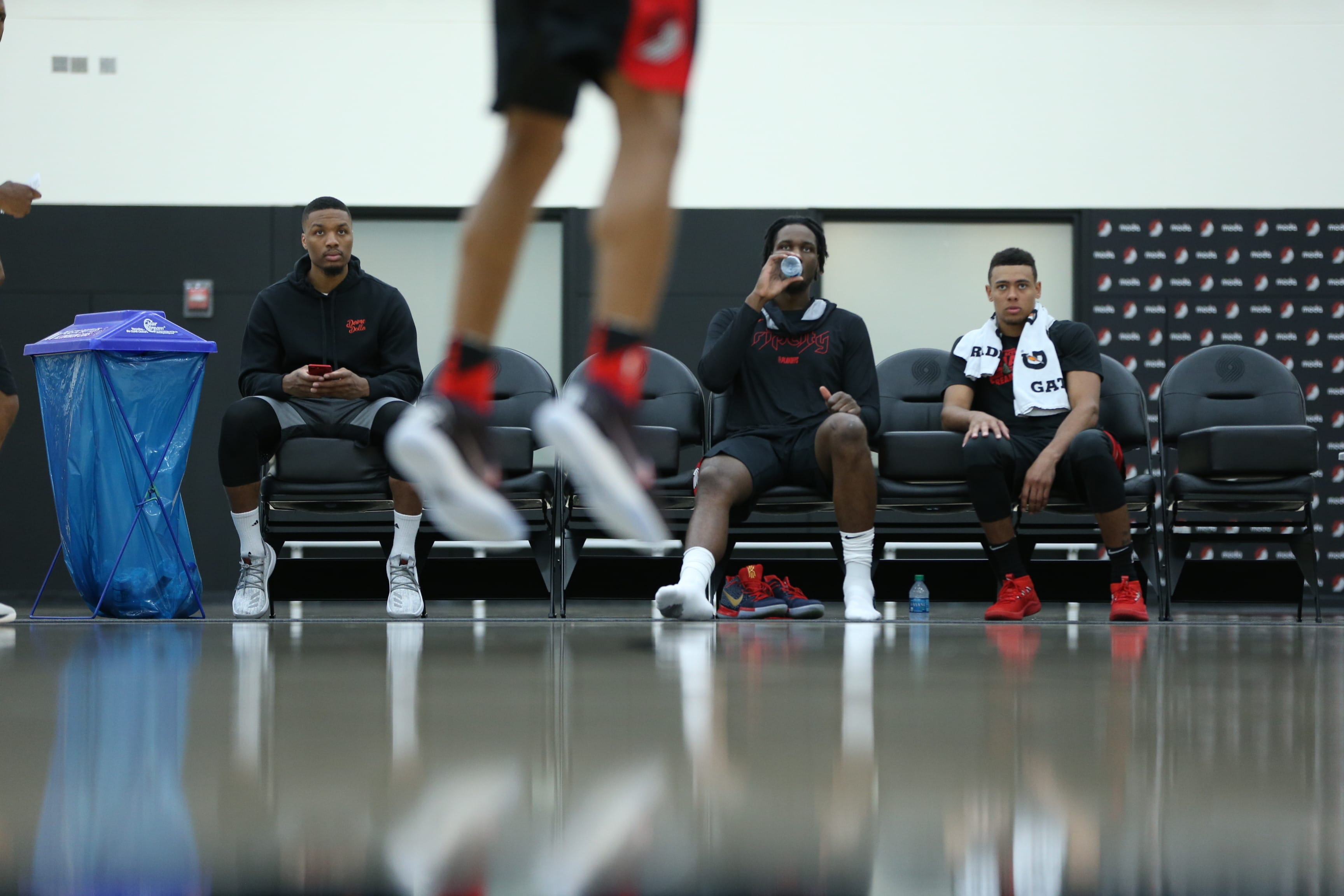 16eeabf7e6a Pre-draft workout session at the Trail Blazers practice facility today  included Anfernee Simons