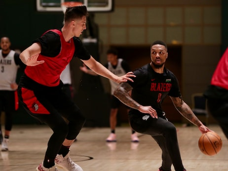 PHOTOS  » Blazers First Practice in Orlando