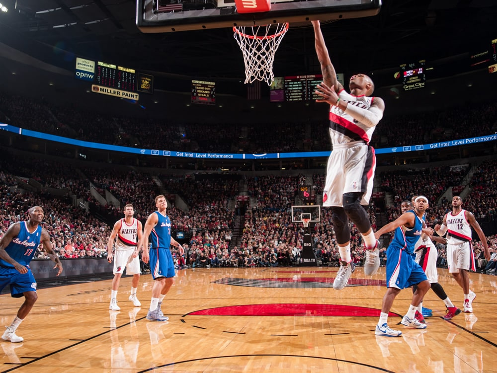 Trail Blazers Vs  Clippers Dec  26  2013