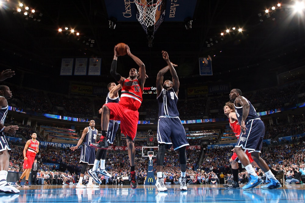 Trail Blazers Vs  Thunder Dec  31  2013