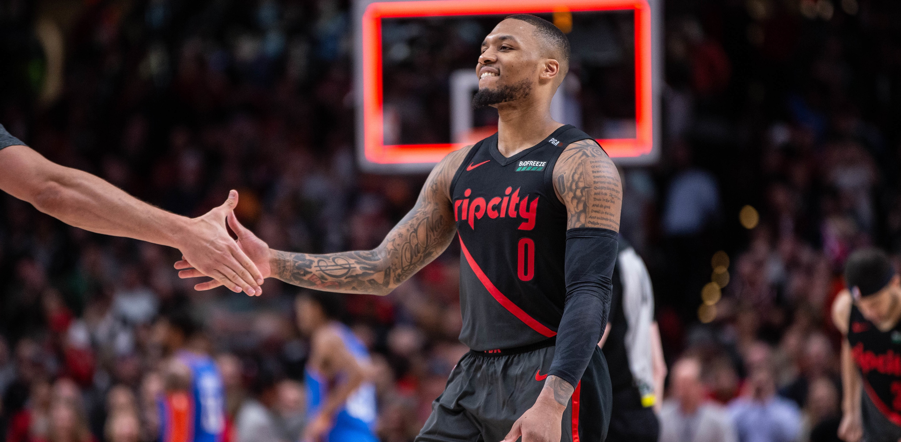 b3ace349a99 Lillard Moves Into Second In Scoring, Vows To Take Top Spot From Drexler