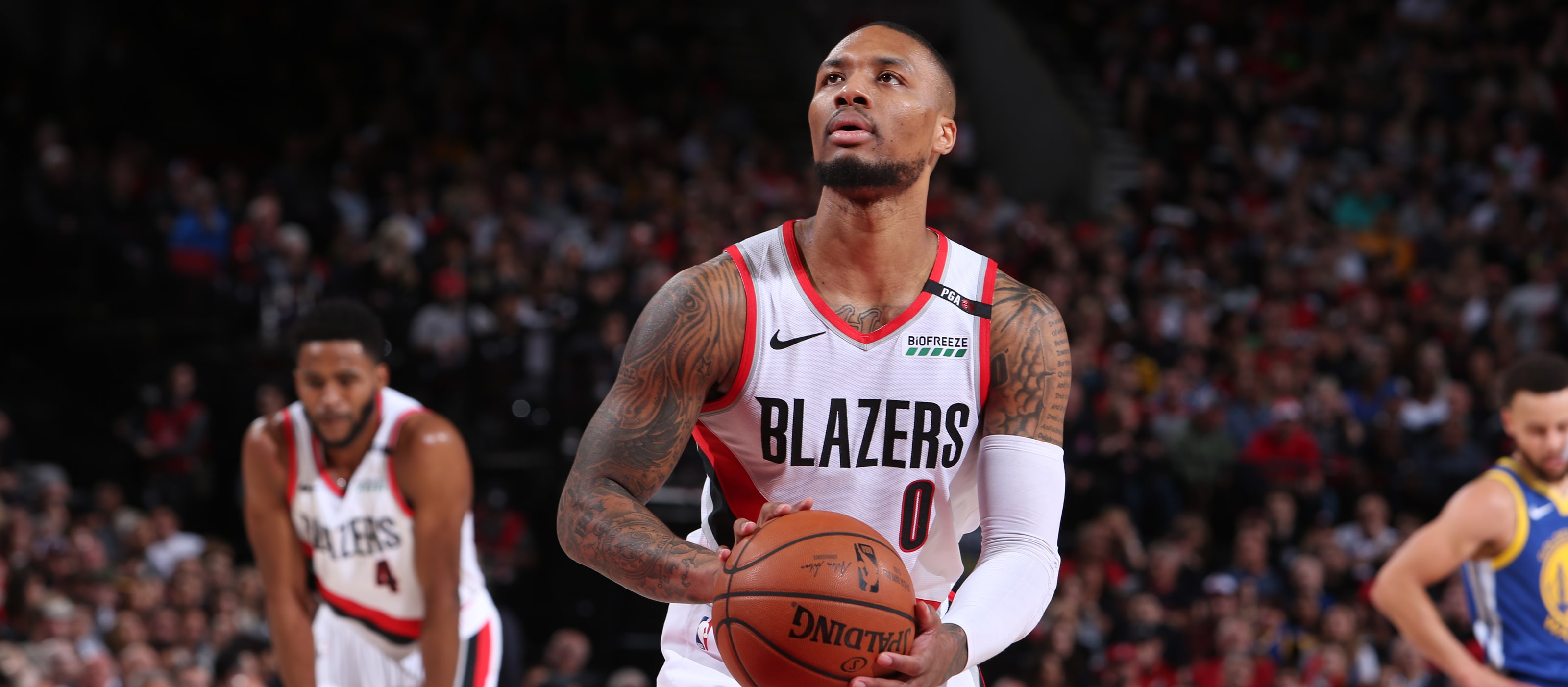 b14e1493e06 Despite Separated Ribs And A 3-0 Series Deficit, Lillard Insists He And Team  Have 'A Lot To Play For'