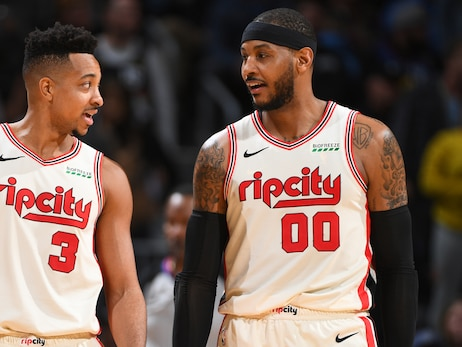 CJ and Carmelo Discuss Cancelled Games, Anthony's Arrival In Portland