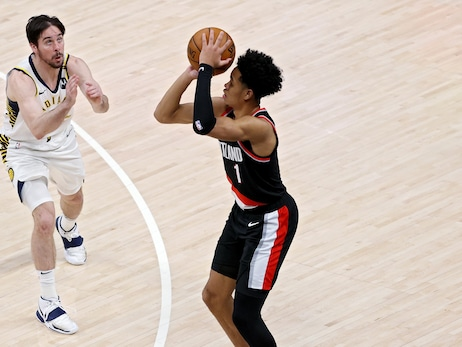 Simons Nearly Flawless From Three To Help Blazers End Losing Streak In Indy