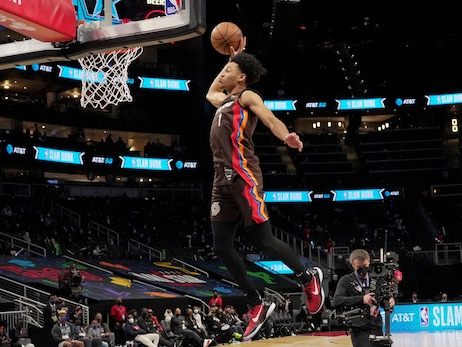 Simons Overcomes Nerves, Shock To Become First Trail Blazer To Win NBA Dunk Contest