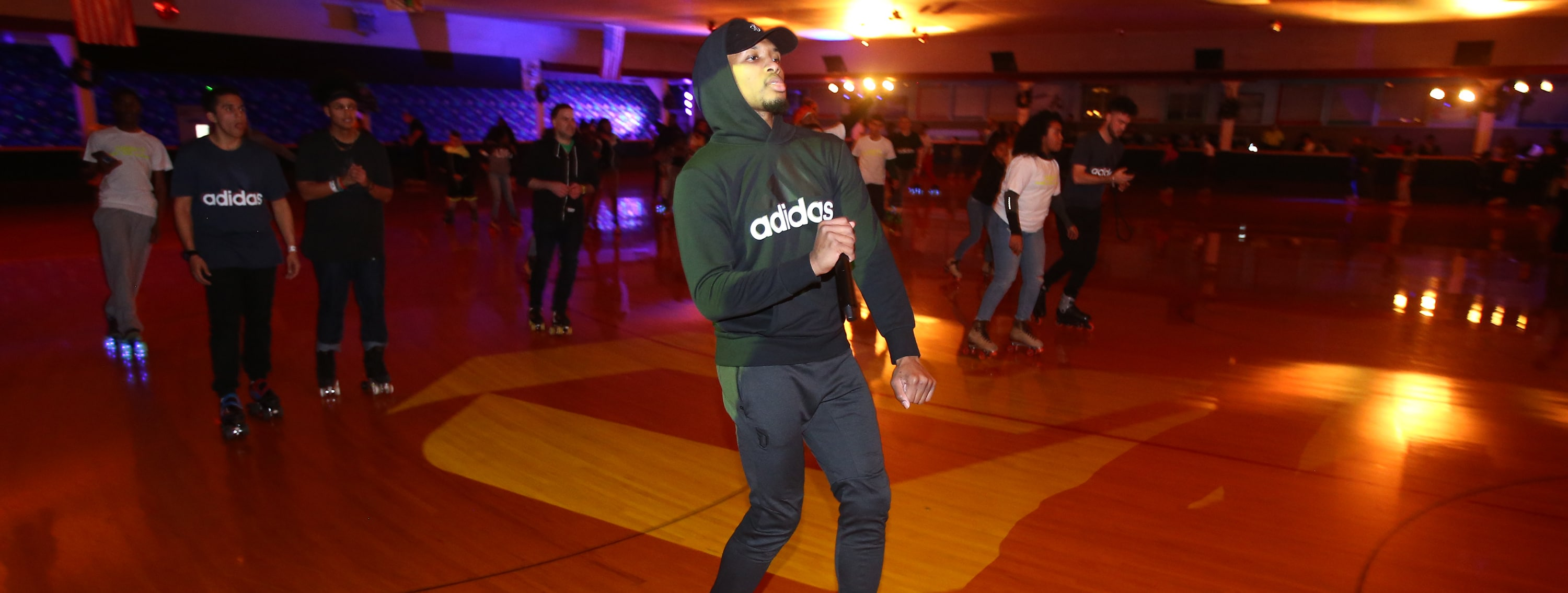 Lillard Puts Portland On Skates At 'Glow In The Park' Party At Oaks Park