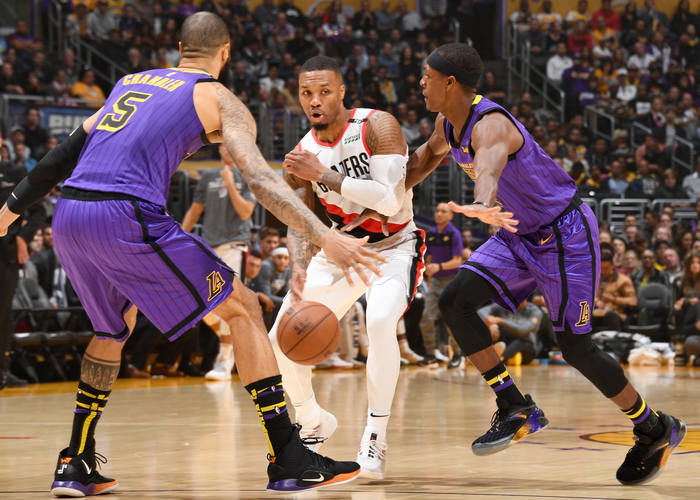 5d41b97261b87 Blazers Try To Clinch Homecourt Tuesday Night In L.A.