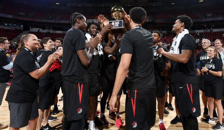 Trail Blazers Blow Out Lakers To Win 2018 Las Vegas Summer League Tournament Championship
