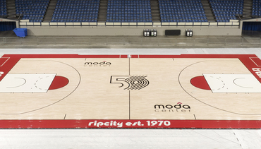 Trail Blazers Unveil Special Court for 2019-20 Season
