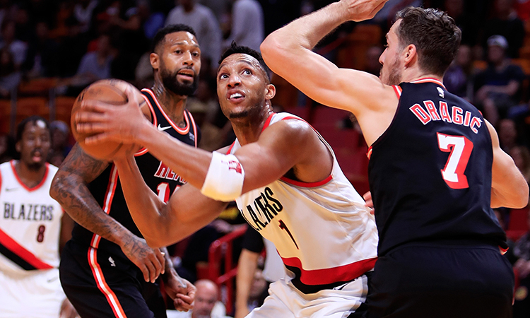 Jusuf Nurkic dominates Heat as Blazers win 10th in a row