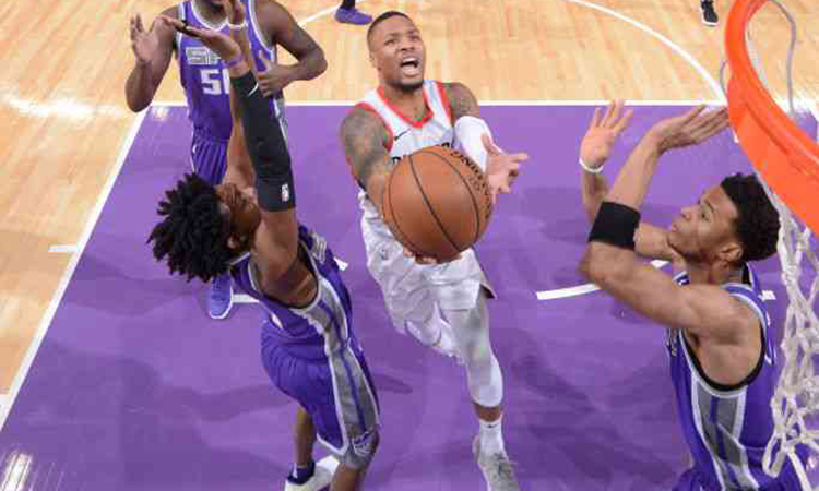 Kings defeat Blazers in first leg of back-to-back