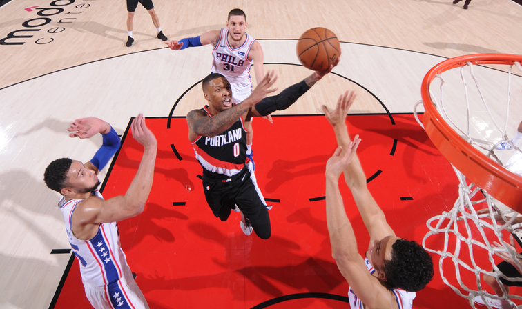 Trail Blazers Blow Out Sixers To Start Trip 2-0