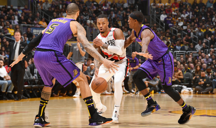a311335fff6 Blazers Try To Clinch Homecourt Tuesday Night In L.A.