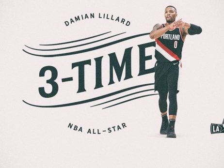 DAMIAN LILLARD NAMED NBA WESTERN CONFERENCE ALL-STAR