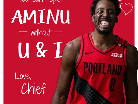 Trail Blazers Valentine's Day Cards
