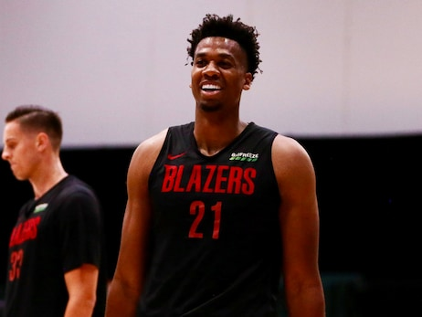 After Spending The Season As Portland's Only Center, Whiteside Is Now Happy For the Help