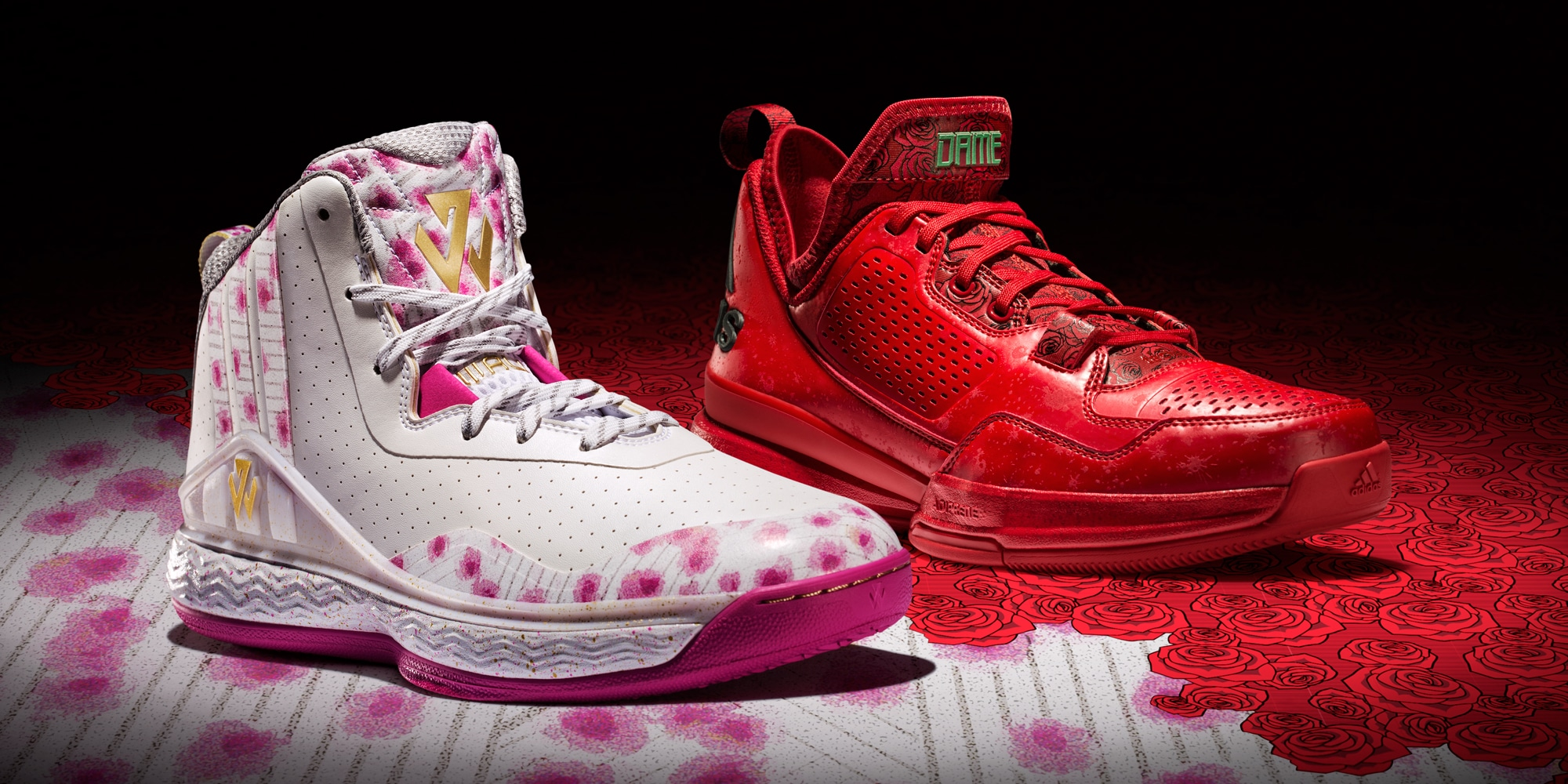 fbb869053a0a Adidas Releases All-Red D Lillard 1 As Part Of  Florist City  Pack ...