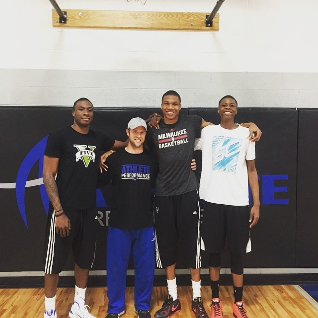 The Greek Freak Shows Off While Working Out With His
