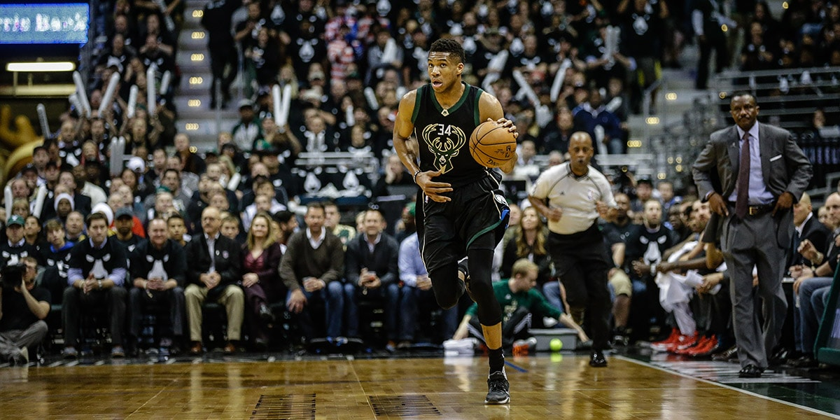 Giannis is doing everything. Jumpers now included.
