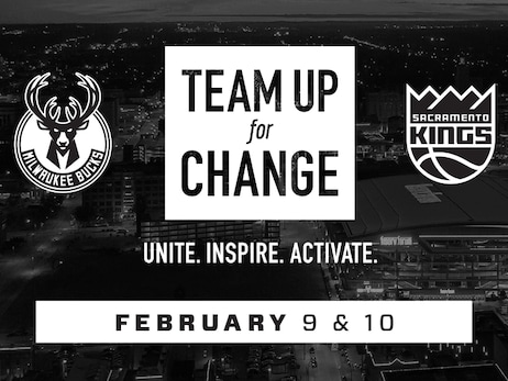 Milwaukee Bucks and Sacramento Kings Come Together For Second Installment Of Team Up For Change