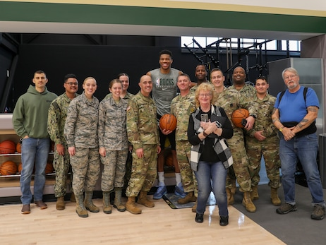 All-Access: Bucks Host Hoops For Troops Practice