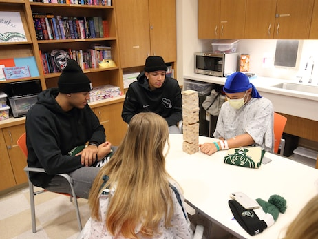 Bucks Spread Holiday Cheer At Children's Hospital of Wisconsin