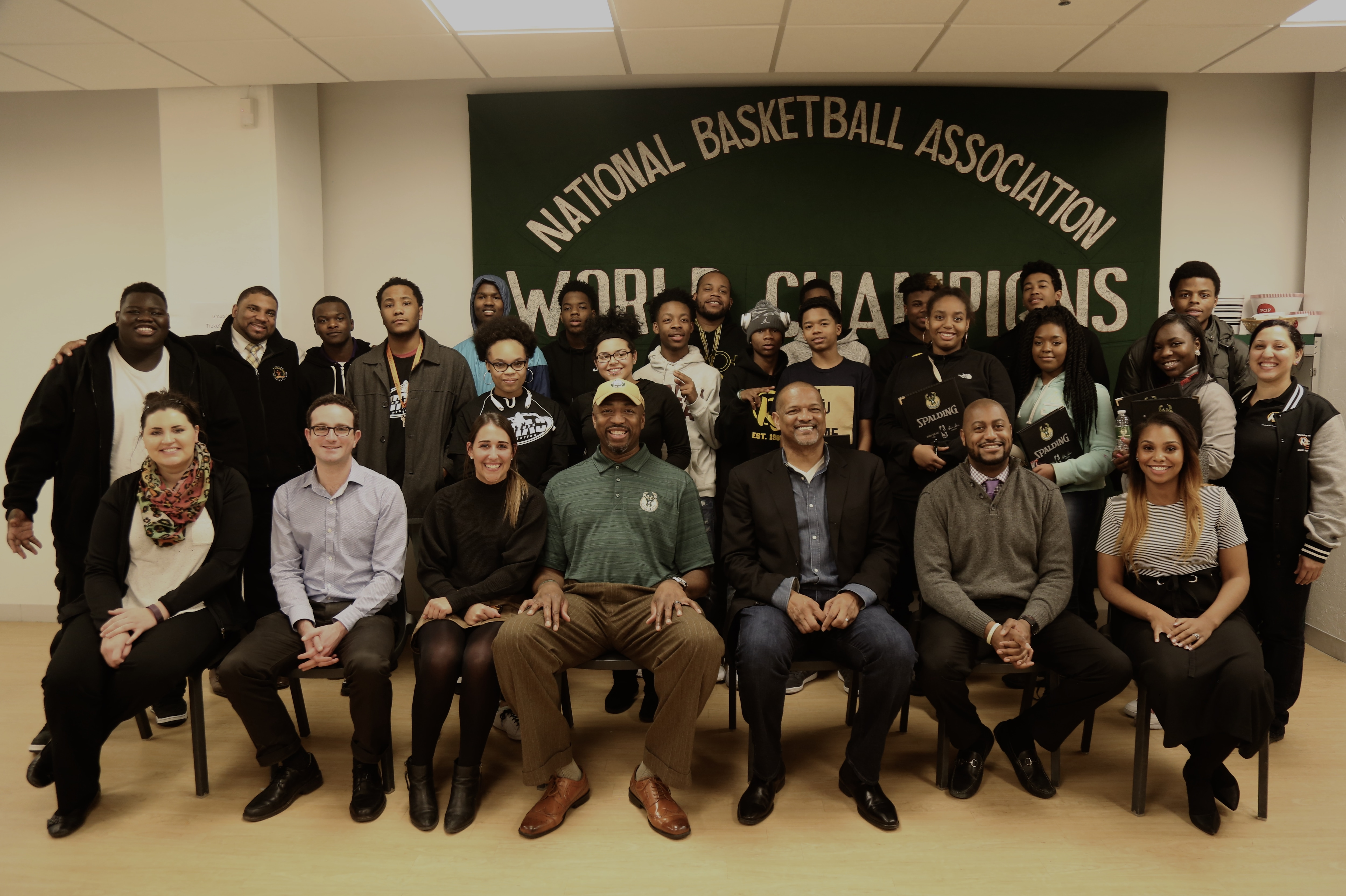 Vin Baker and Marques Johnson Mentor Milwaukee Youth