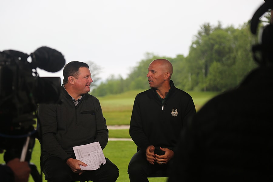 Coach Kidd and Rory McIlroy at Whistling Straits | Milwaukee