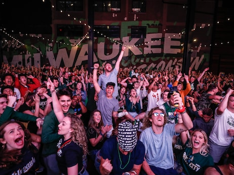 Bucks Fans Support Team At Game 6 Watch Party