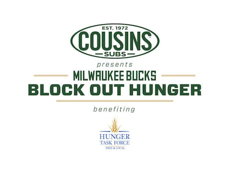 Milwaukee Bucks and Cousins Subs® Partner to Bring Back Block Out Hunger Campaign