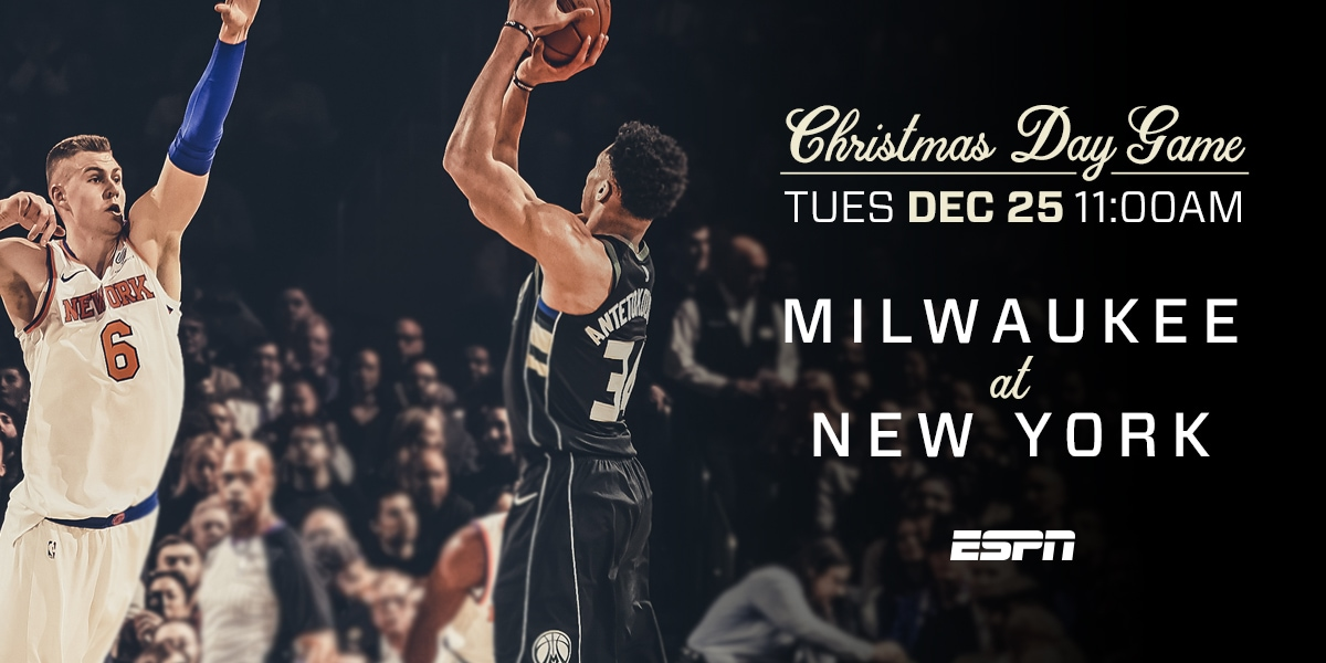 Milwaukee Bucks To Play On Christmas Day In New York