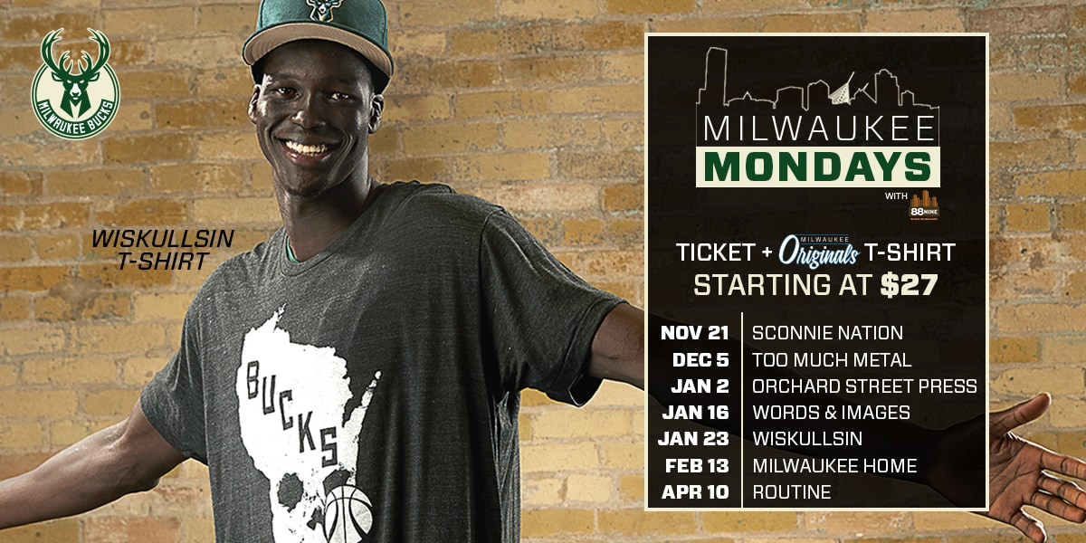The Bucks will be celebrating everything that makes our home city special at all Monday home games this season as part of Milwaukee Mondays ...