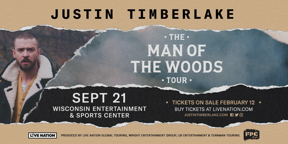 Justin Timberlake to Perform at Wisconsin Entertainment and Sports Center During 'The Man Of The Woods Tour'