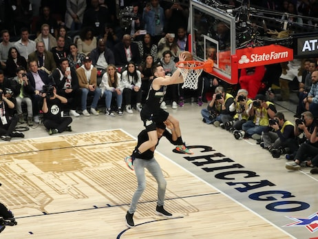 Pat Connaughton Competes in 2020 AT&T Slam Dunk Contest