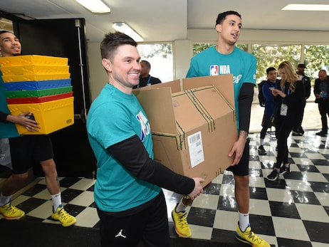 All-Star Gallery: Bucks Coaching Staff Participates In Day Of Service