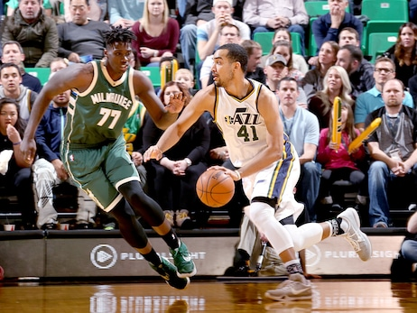 Game Action - Bucks at Jazz - 02/05/16