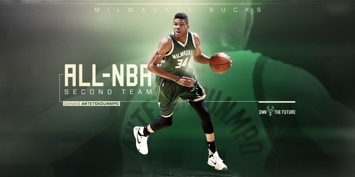 Giannis Antetokounmpo Named To All Nba Second Team