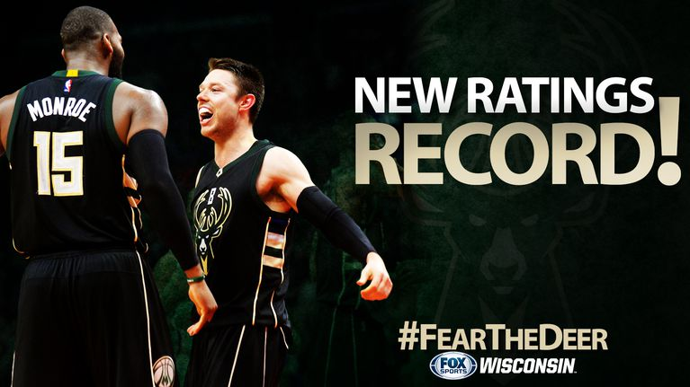 Another New TV Ratings Record for Milwaukee Bucks on FOX Sports Wisconsin