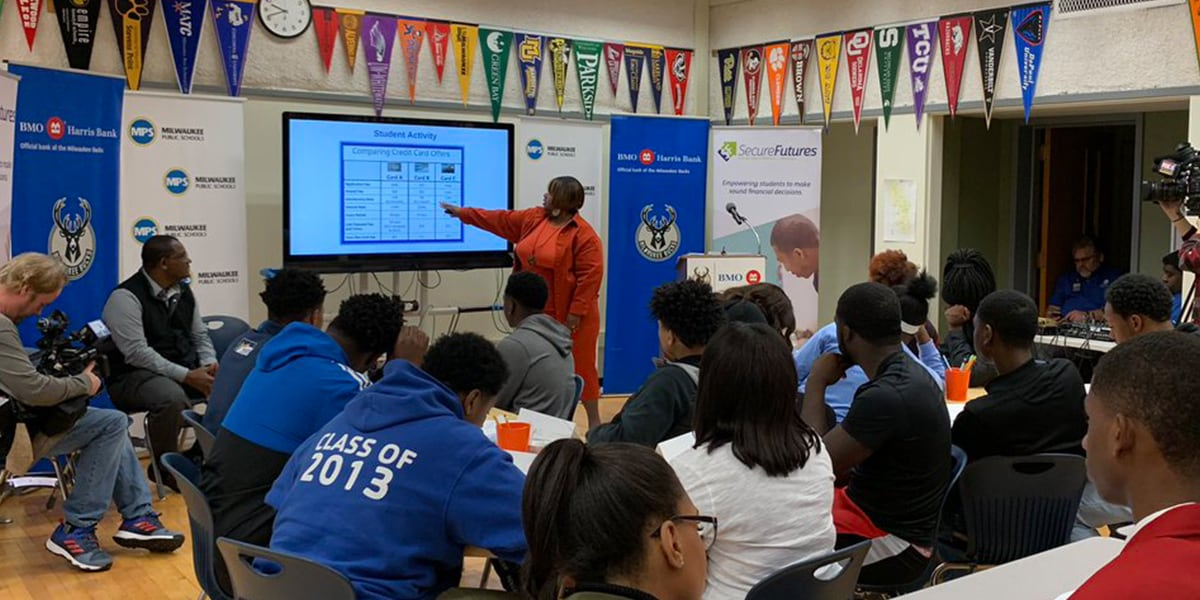 Milwaukee Bucks, BMO Harris Bank and SecureFutures Team up with Milwaukee Area Schools to Implement Financial Literacy Program
