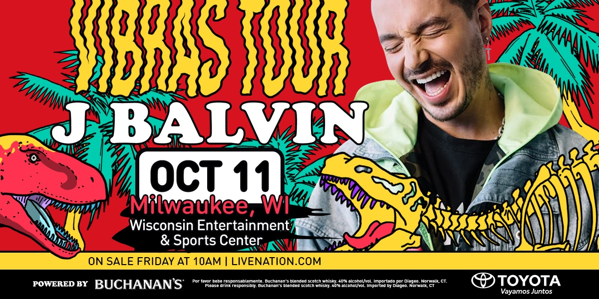 Latin Star J Balvin to Bring 'Vibras Tour' to Wisconsin Entertainment and Sports Center in October